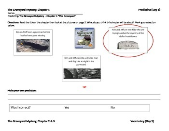 Start-to-Finish Teacher WS for Guided Reading The Graveyar