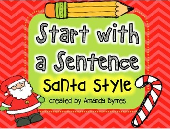 Start with a Sentence (Santa Style) FREEBIE for SMART Board