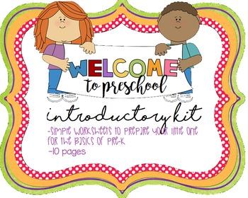 Starting Preschool- Worksheet Bundle