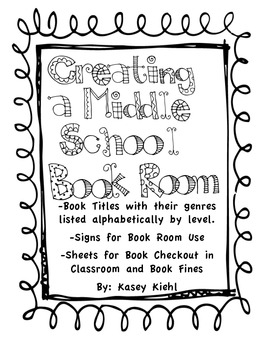 Starting a Middle School Book Room: Freebie