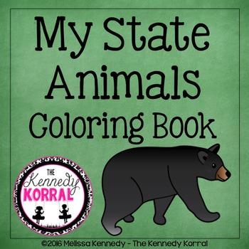 State Animals Coloring Book {50 State Animals}