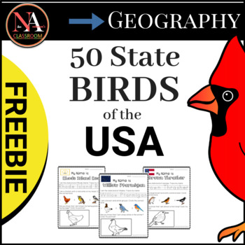 State Birds of the USA FREEBIE (3 States)