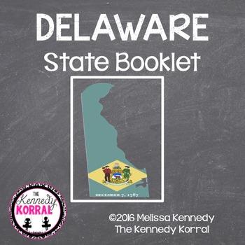 Delaware State Book {Map, Bird, Flag, Flower, Landmark, An