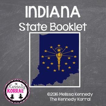 Indiana State Book {Map, Bird, Flag, Flower, Landmark, Ani