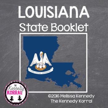 Louisiana State Book {Map, Bird, Flag, Flower, Landmark, A