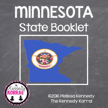 Minnesota State Book {Map, Bird, Flag, Flower, Landmark, A