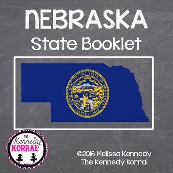 Nebraska State Book {Map, Bird, Flag, Flower, Landmark, An