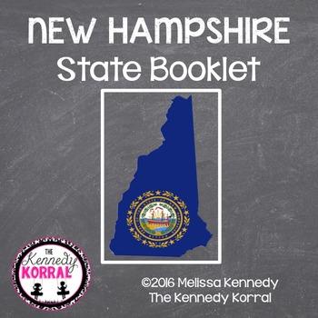 New Hampshire State Book {Map, Bird, Flag, Flower, Landmar