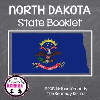 North Dakota State Book {Map, Bird, Flag, Flower, Landmark