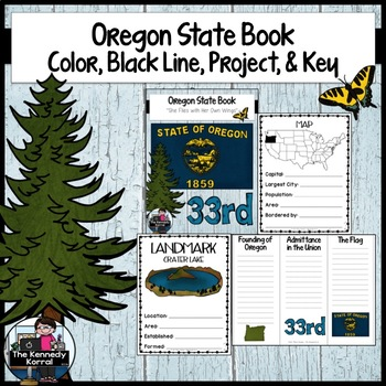 Oregon State Book {Map, Bird, Flag, Flower, Landmark, Anim