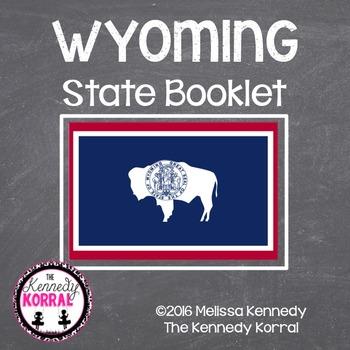 Wyoming State Book {Map, Bird, Flag, Flower, Landmark, Ani
