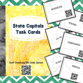 State Capitals Task Cards