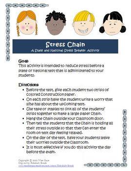 FREE SBAC PARCC Standardized Test Stress Breaker Activity