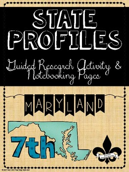 State Profiles: Maryland Notebooking Pages