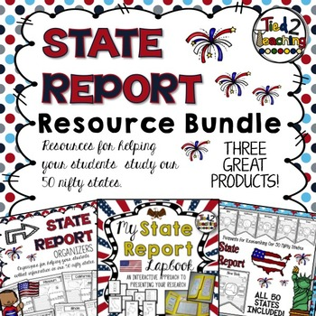 State Report Resource Bundle: Printables ~ Lapbook ~ Organizers