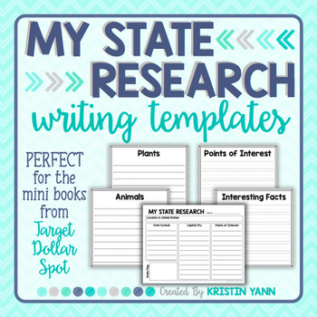 State Research & Informational Writing Templates (for Targ