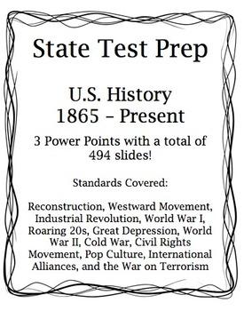 Social Studies U.S. History State Test Prep:  PASS Aligned