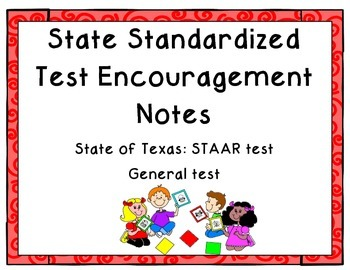 State Testing Encouragement Cards