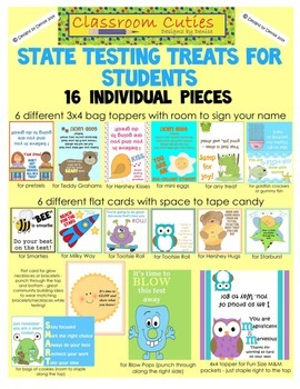 State Testing Treats and Motivators For Students