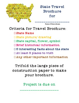 State Travel Brochure project