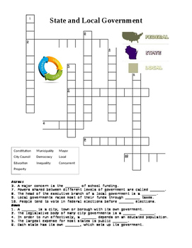 State and Local Government Crossword