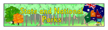 State and National Parks of Australia - Banner