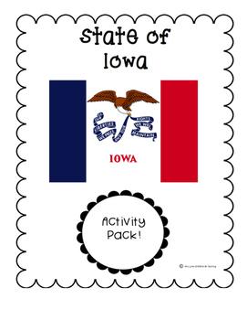 State of Iowa (Iowa State) Activity Pack