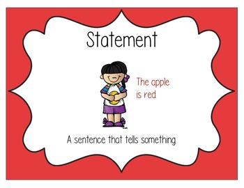 Statement Sentence Type Poster