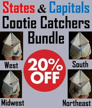 US Geography Unit: States and Capitals Activities Bundle (
