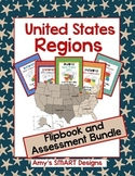 United States Regions States  and Capitals Flipbook and As