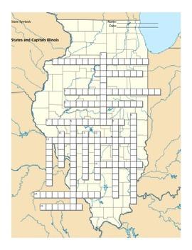 States and Capitals - Illinois State Symbols Crossword Puzzle