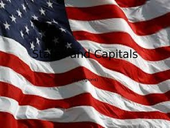 States and Capitals by regions
