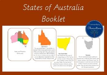 States of Australia History Cards