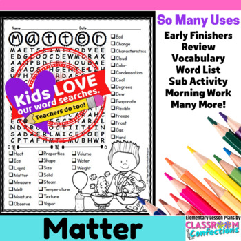 States of Matter Activity: States of Matter Word Search: V