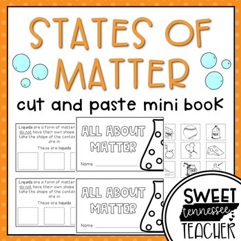 States of Matter Cut & Paste Mini-Booklet