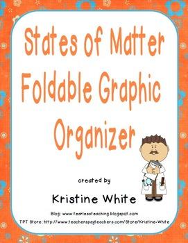 States of Matter Foldable Graphic Organizer