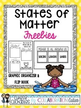 States of Matter Freebies {Graphic Organizer & Flip Book}