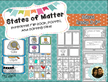 States of Matter Interactive Flip Book, Posters, and Sorti