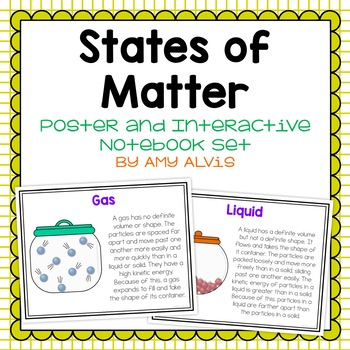 States of Matter Poster and Interactive Notebook Set