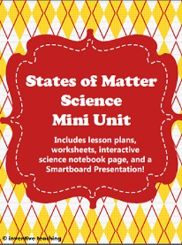 States of Matter Science Mini Unit