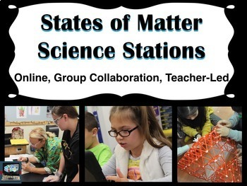States of Matter Science Stations (online, group collabora