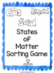 States of Matter Scoot Game Solids, Liquids and Gases