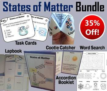 States of Matter Task Cards and Activities Mini Bundle