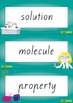 States of Matter Word Wall Vocabulary