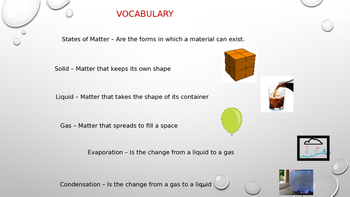 States of Matter and its changes