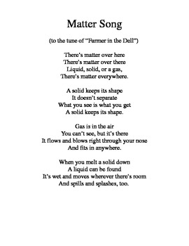States of Matter song (Farmer in the Dell)