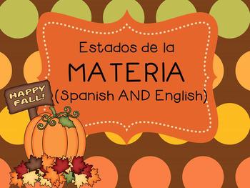States of matter sorting game / Estados de la materia