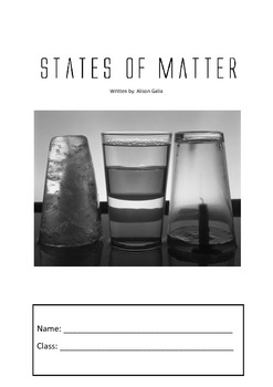 States of matter student worksheets, unit of work and teac