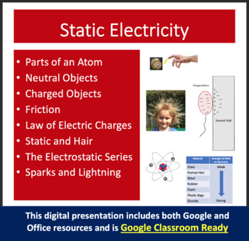 Static Electricity: Electrostatics - PowerPoint Lesson & S