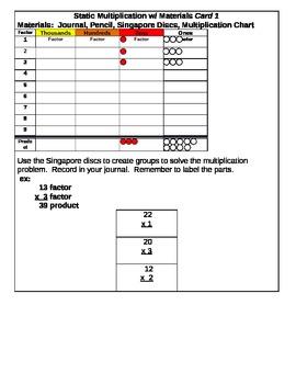 Static Multiplication Center Cards